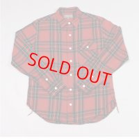 【PRICE DOWN】 40%OFF EMPIRE & SONS (エンパイア アンド サンズ) L/S WORK TAB SHIRT FLANNEL CHECK - RED CHECK