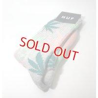 HUF(ハフ) PLANTLIFE SOCKS GRY /プラントライフ ソックス グレー