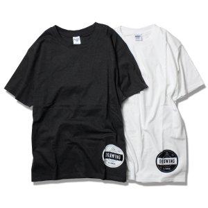 画像1:  Drawing (ドローイング) ORIGINAL RECORD TEE WHITE&BLACK SET/ オリジナル  レコード  Tシャツ ホワイト ブラック 2枚セット