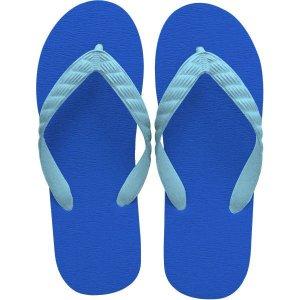 画像1: 九十九サンダルBEACH SANDAL ROYAL BLUE-AQUA BLUE/ ビーチサンダル ロイヤルブルー-アクアブルー 日本製