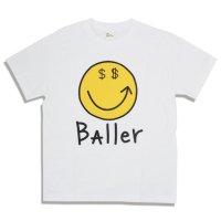 MR.BAller SMILE TEE/ミスターボーラー スマイル Tシャツ ホワイト