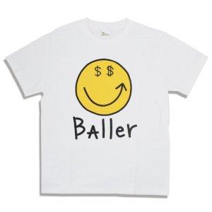 画像1: MR.BAller SMILE TEE/ミスターボーラー スマイル Tシャツ ホワイト