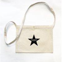 Drawing (ドローイング) ORIGINAL STAR CANVAS SACOCHE BAG NATURAL/ オリジナル スター キャンバス サコッシュ バッグ ナチュラル
