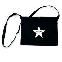 Drawing (ドローイング) ORIGINAL STAR CANVAS SACOCHE BAG BLACK / オリジナル スター キャンバス サコッシュ バッグ ブラック