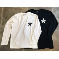 Drawing (ドローイング) ORIGINAL STAR L/S TEE WHITE&BLACK SET/ オリジナル スター ロングスリーブ Tシャツ ロンT ホワイト ブラック 2枚セット