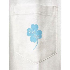 画像2: RichMan (リッチマン) ORIGINAL CLOVER POCKET TEE WHITE/ クローバー ポケットTシャツ ホワイト