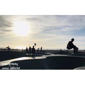 画像2: Drawing locals venice skate photo TEE BLACK/ドローイング オリジナル ローカル ベニスビーチ フォト tシャツ ブラック