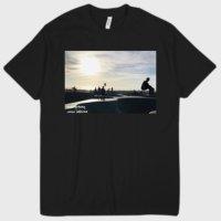 Drawing locals venice skate photo TEE BLACK/ドローイング オリジナル ローカル ベニスビーチ フォト tシャツ ブラック