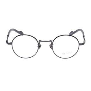 画像1:  yohji yamamoto (ヨウジヤマモト) 19-0028 ラウンドメタル メガネ BLACK/ ブラック 眼鏡