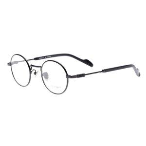 画像2:  yohji yamamoto (ヨウジヤマモト) 19-0028 ラウンドメタル メガネ BLACK/ ブラック 眼鏡