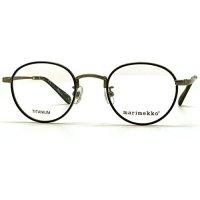 marimekko (マリメッコ) 32-0016-03 メタルラウンドメガネ Brush light gun / ブラッシュライトガン 眼鏡