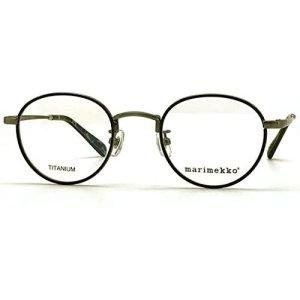 画像1: marimekko (マリメッコ) 32-0016-03 メタルラウンドメガネ Brush light gun / ブラッシュライトガン 眼鏡