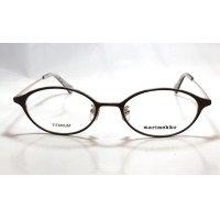 marimekko (マリメッコ) 32-0033 メタル オーバル メガネ BROWN/ブラウン 眼鏡