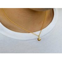 ROUND STONE NECKLACE GOLD/ ラウンド ストーン ネックレス ゴールド