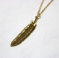 FEATHER NECKLACE GOLD/ フェザー ネックレス ゴールド