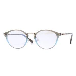 画像1: VIKTOR&ROLF (ヴィクター&ロルフ) 70-0204-7 GREY × BLUE ボストン コンビ メガネ/ グレー ブルー