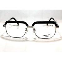 マルマン TITANOS T-829 チタン ブロータイプ メガネ BLACK/チタノス サーモント 眼鏡 ブラック 日本製