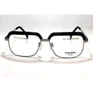 画像1: マルマン TITANOS T-829 チタン ブロータイプ メガネ BLACK/チタノス サーモント 眼鏡 ブラック 日本製