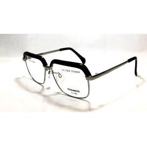 画像2: マルマン TITANOS T-829 チタン ブロータイプ メガネ BLACK/チタノス サーモント 眼鏡 ブラック 日本製