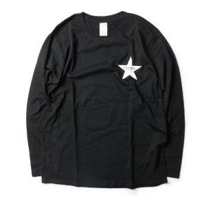 画像1: Drawing (ドローイング) ORIGINAL STAR L/S TEE BLACK/ オリジナル スター ロングスリーブ Tシャツ ロンT ブラック