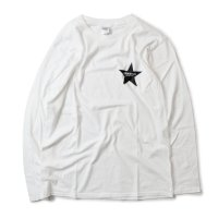 Drawing (ドローイング) ORIGINAL STAR L/S TEE WHITE/ オリジナル スター ロングスリーブ Tシャツ ロンT ホワイト