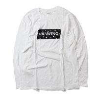 Drawing (ドローイング) ORIGINAL STAR BOXLOGO L/S TEE WHITE/ オリジナル スター ボックスロゴ ロンT Tシャツ ホワイト