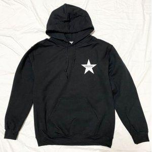 画像1: Drawing (ドローイング) ORIGINAL STAR  SWEAT PARKA BLACK/ スター スウェット プルパーカー ブラック