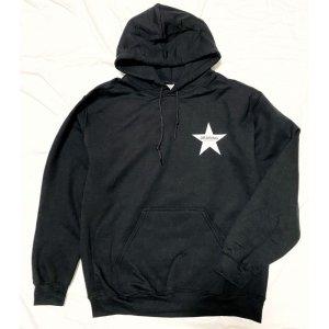 画像2: Drawing (ドローイング) ORIGINAL STAR  SWEAT PARKA BLACK/ スター スウェット プルパーカー ブラック
