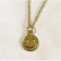 SMILE STONE NECKLACE GOLD/ スマイル ストーン ネックレス ゴールド