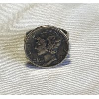INDIAN JEWELRY  NAVAJO族 COIN RING /ナバホ族  コイン リング インディアンジュエリー